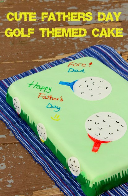 Cute Father's Day Golf Themed Cake