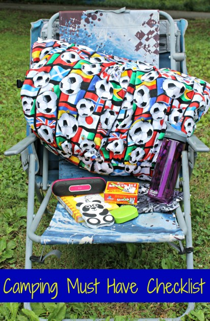 Camping Must Have Checklist Pin