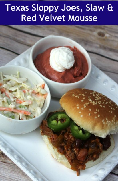 Texas Sloppy Joes, Slaw & Mousse