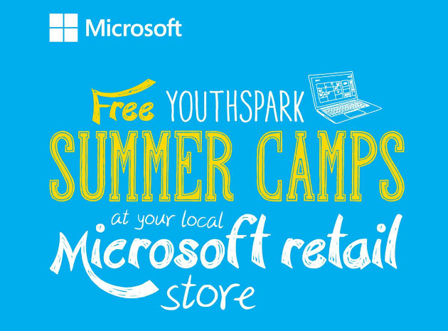 Youthspark and Microsoft Offer Free Summer Camps For Kids
