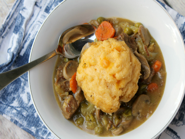Beef Stew With Cheese Dumplings Recipe