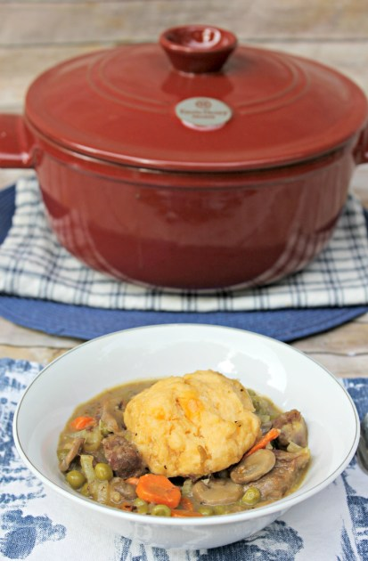 Beef Stew With Cheese Dumplings pin1
