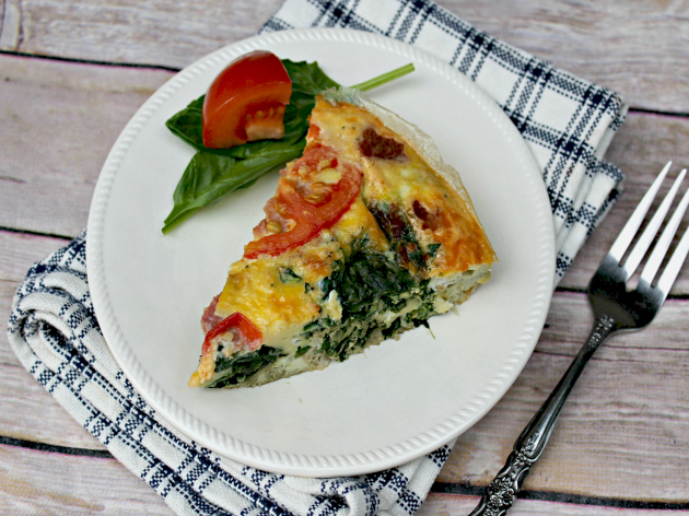 Spinach Tomato And Bacon Frittata1
