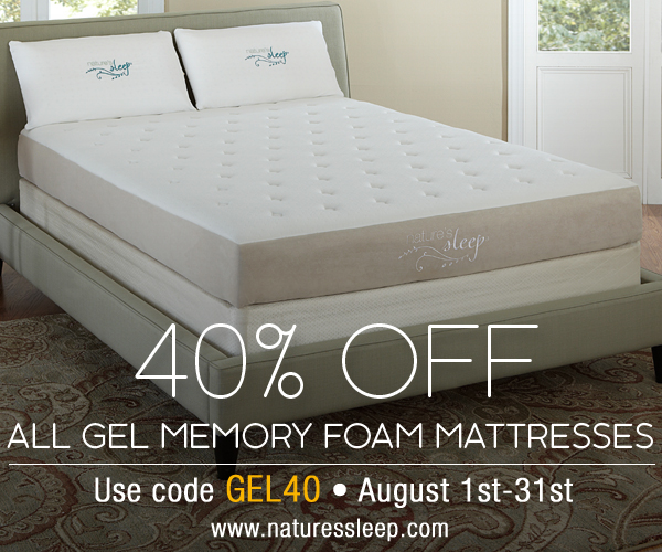 Enjoy 40% Off Nature's Sleep Gel Memory Foam Mattresses