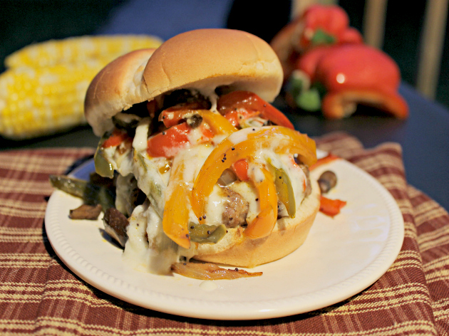 Gourmet Philly Cheese Steak Burger