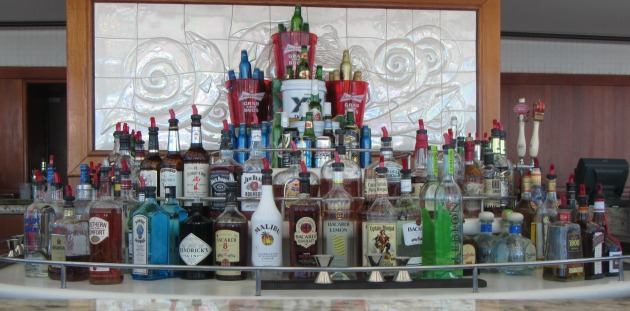 full stocked cruise bar