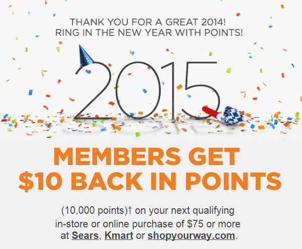 Shop Your Way Says Thanks For A Great Year With Free Points!