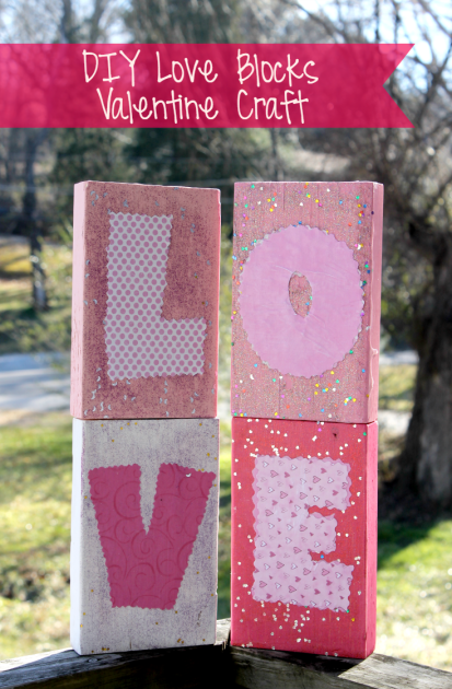 DIY Love Blocks Valentine Craft pin