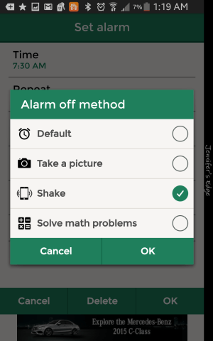 Alarmy app uses a unique way to get you out of bed.