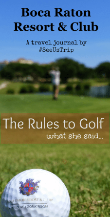 rules to golf at Boca Resort