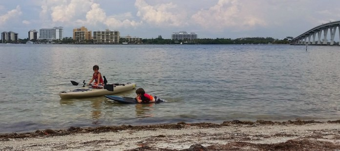 kids on kayak