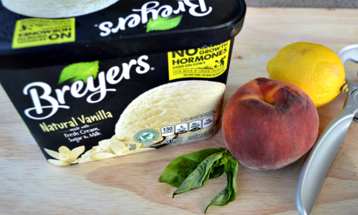Pound Cake and Peaches Sundae Recipe breyers