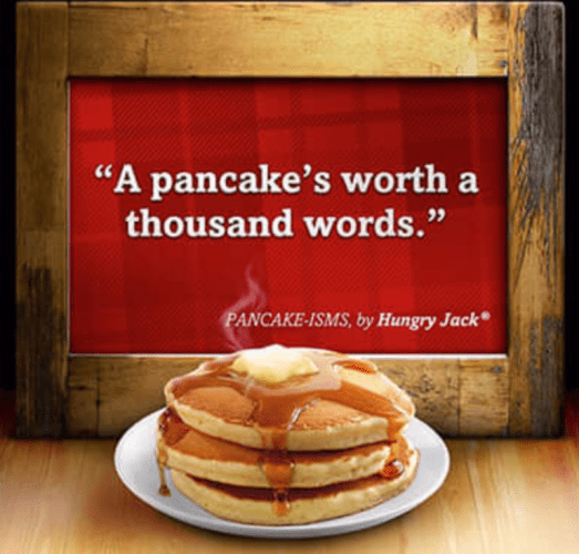 pancake worth words