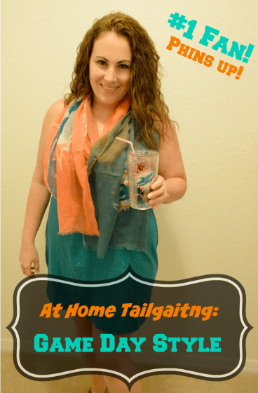 at home tailgating phins up
