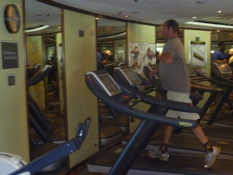 Exercise: Considering that every Norwegian cruise ship has a fully stocked workout room, you may need some kind of balance considering item one. You can run an easy three using the treadmill, climb Kilimanjaro on the elliptical, or walk the lower promenade deck and enjoy watching flying fish coast over the bow spray..