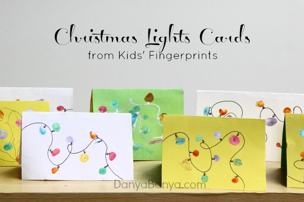 See full instructions at https://www.danyabanya.com/fingerprint-christmas-lights-cards/