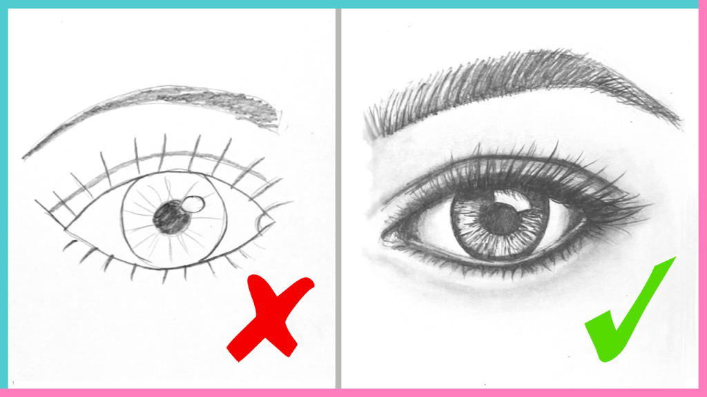Dos ts how to draw realistic eyes easy step by step art drawing tutorial makoccino