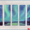 northern lights bookmarks
