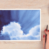 how to paint fluffy clouds