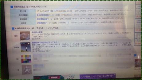 日本ブログ村の心象的風景op.14トーナメント準優勝