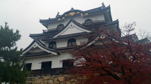 彦根城の真下接近から撮影