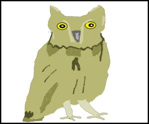 鳳来寺山のコノハズクを描いてみた