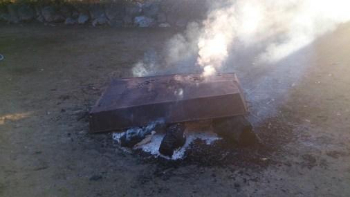 初詣_近隣の神社_焚き火