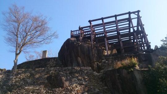 苗木城の天守跡展望台01
