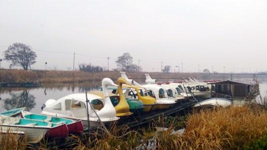 能登川水車のボート乗り場