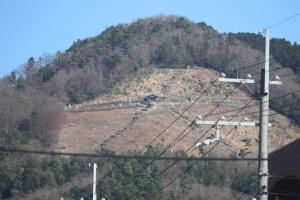 大文字山を町中から撮影で最大アップ