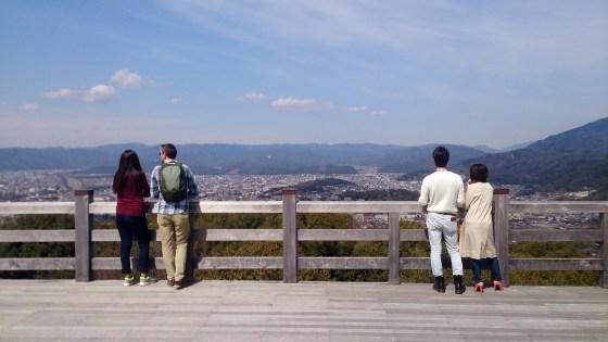 将軍塚の青龍殿展望台からの見晴らし01