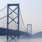 道の駅うずしお39の大鳴門橋が架かる徳島県側