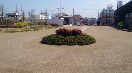 トヨエコ1のタウン入り口花壇