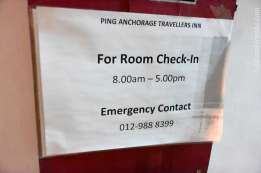 Ping Anchorage のチェックイン時間は昼間のみ