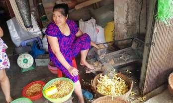 Trùng Khánh チュンカン の市場に変わったポップコーン