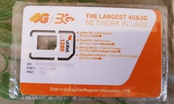 ラオスのSIMはUnitelで2GB1万キープ