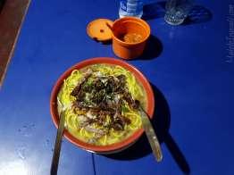 ビーフのトゥクパ。麺が硬め