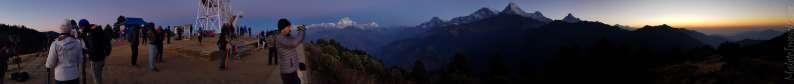 朝日照るダウラギリ: Poon Hill → Ratopani トレッキング3日目