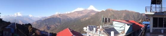 Fishtail Lodge からの眺め