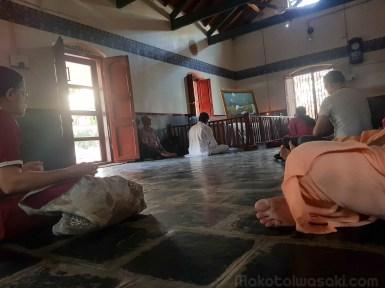 ラマナアシュラムのメディテーション室