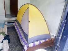 Tirpati の宿のベッドキャンプ