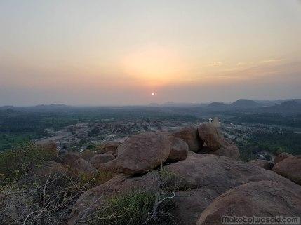 Mathanga Hill から夕日