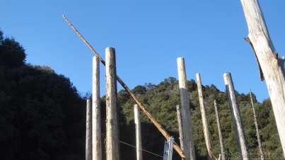 12mの梁柱をかける。高さ7m