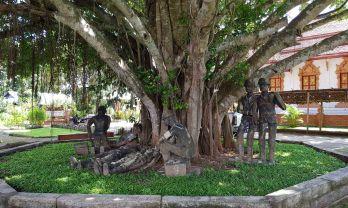 クンユアムの日泰記念館とムアイト寺