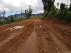 Pai への近道は泥道になり引き返す