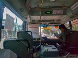 サムソンビーチ行きのバス