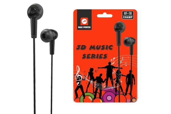 Mak Power Earphone HF 18