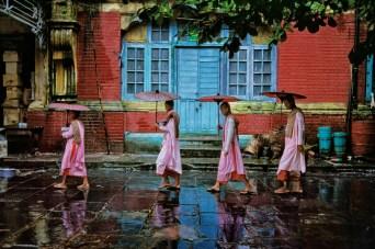 Steve McCurry,MYANMAR (Burma). Yangon (Rangoon). 1994. Procession of nuns.