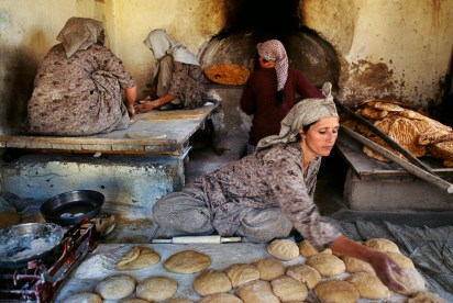 Steve McCurry, Kabul, Afghanistan, 2002, AFGHN-10146. Bakery run by Afghan widowsIn the Shadow of Mountains_Book55_Book