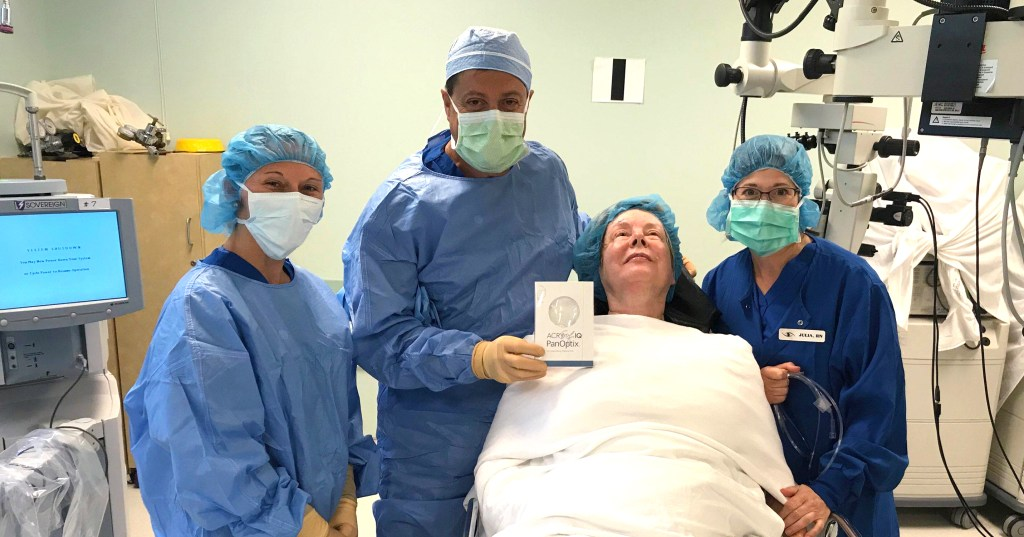 First trifocal implant in Muncie
